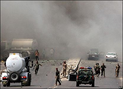 Smoke rises after Baghdad blast