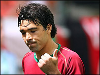 Deco shows a thumbs up after scoring Portugal's opener