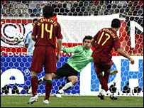 Cristiano Ronaldo converts Portugal's 78th minute penalty for the 2-0 victory