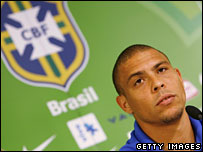 Brazilian footballer Ronaldo