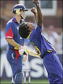 Kevin Pietersen and Lasith Malinga