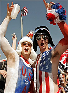 American supporters in Kaiserslautern