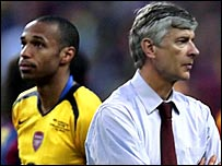 Arsene Wenger (right) and Thierry Henry