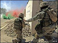 US troops in Ramadi