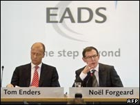 EADS co-chief executives, Tom Enders and Noel Forgeard
