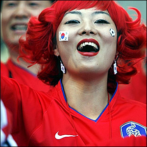 A South Korea fan in Leipzig