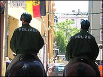 German mounted police