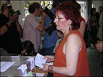 Votante en Catalu�a.