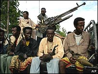 Islamic militia in Balad, 40kms north of Mogadishu