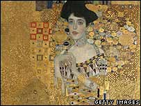 Portrait of Adele Bloch-Bauer by Gustav Klimt (detail)