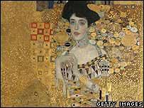 Portrait of Adele Bloch-Bauer by Gustav Klimt (detail)