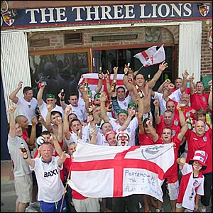 England fans in Spain during the World Cup