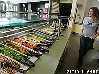 Salad bar at the University of California