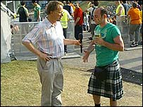 Michael and Kilt-wearing Scot