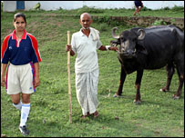 Woman footballer of Bihar with farmer father