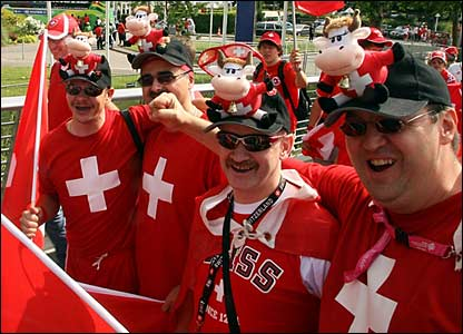 Swiss fans in Dortmund