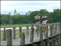 U Bein's bridge in Amarapura
