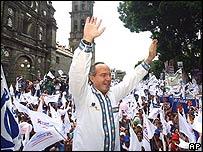 Felipe Calderón Hinojosa, candidato del Partido Acción Nacional.