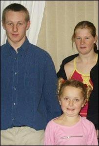Ricky Stott, Kirsty Stott and Lindsey Stott
