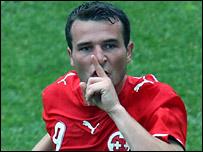 Switzerland scorer Alex Frei