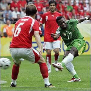 Togo's Mohamed Kader shoots