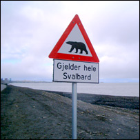 Polar bear warning sign, Svalbard (Global Crop Diversity Trust)