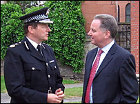 Chief Constable David Strang and First Minister Jack McConnell