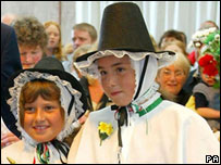 Welsh costume, worn on a St David's Day on Anglesey