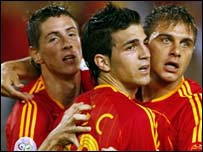 Fernando Torres, Cesc Fabregas, Joaquin
