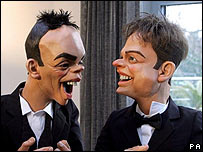 Spitting Image puppets of Ant and Dec