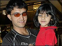 Ganguly and daughter Sana