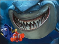 Screen shot from Finding Nemo