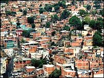 Ranchos slum areas, Caracas