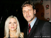 Russell Crowe and wife Danielle Spencer