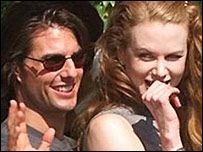 Tom Cruise and Nicole Kidman, when they were married