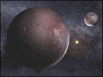 Плутон и Харон (рисунок)