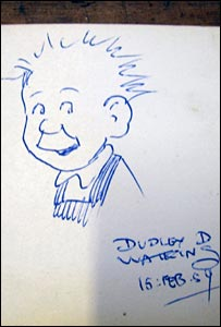 Oor Wullie sketch (pic by Andrew Anderson)