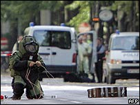 Police prepare to explode hoax bomb