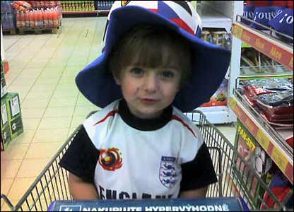 Young England fan in the Czech Republic