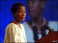 Anna Tibaijuka, head of UN Habitat (AFP)