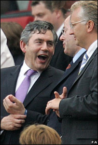 Gordon Brown at the match