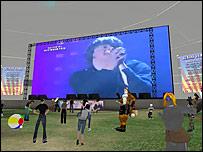 Pantalla virtual en concierto en l�nea de Radio 1
