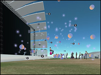 Escenario virtual en concierto en l�nea de Radio 1