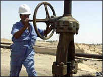 An oil worker in the Middle East