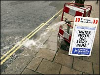 spouting water in london