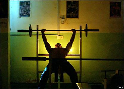 Bodybuilder in Baghdad