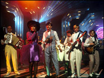 Modern Romance on Tops of the Pops in 1982