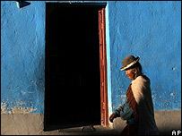 Una campesina boliviana