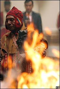 Un hechicero en Bolivia
