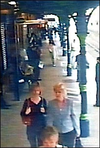 Carrie and June Taylor travelling together an hour before the blasts on 7 July